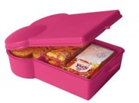 Pink sandwich shape lunch box by  Present Time