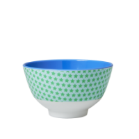 Small Blue & Green Star Melamine Bowl Rice DK