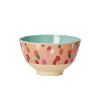 Coral Dapper Dot Print Small Melamine Bowl By Rice DK