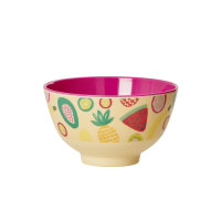 Fun Tutti Frutti Print Small Melamine Bowl By Rice DK