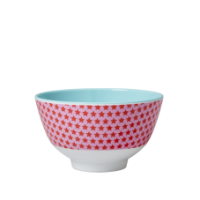 Small Pink Star Melamine Bowl Rice DK