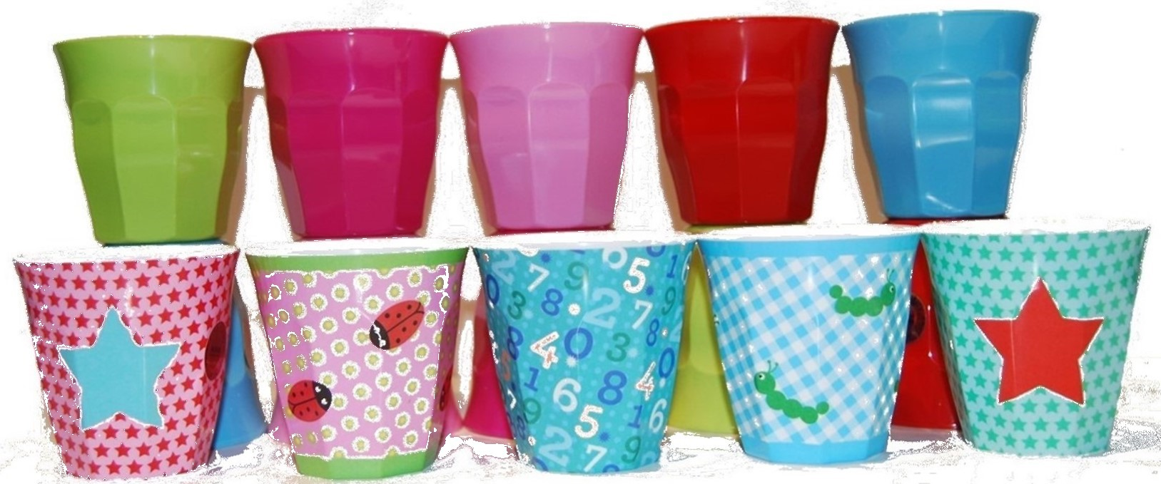 rice dk kids melamine cup patterned plain printed star pink girl theme boy  sc 1 st  Vibrant Home & Fun bright practical kids melamine tableware - Vibrant Home